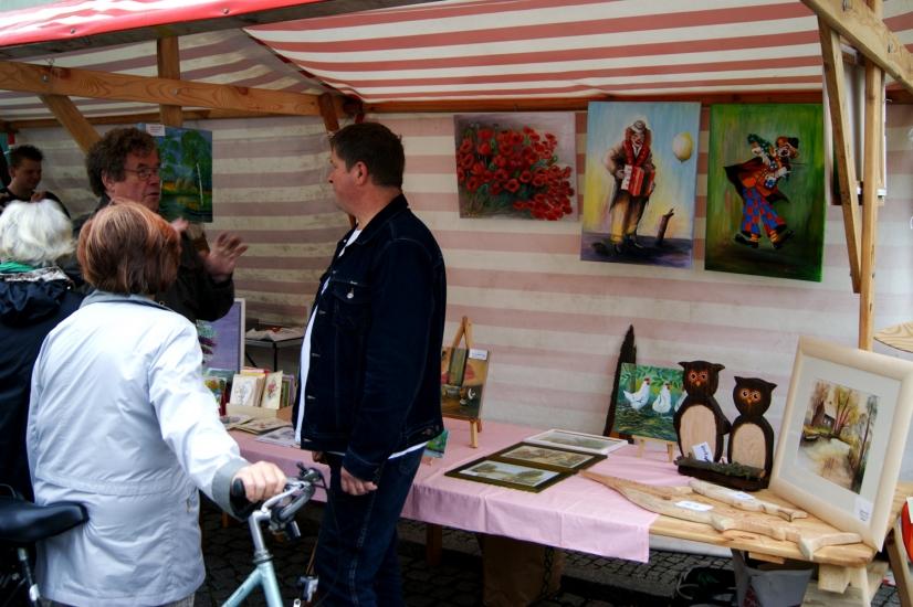 Maler bieten Ihre Arbeiten beim Spreewldatelier an