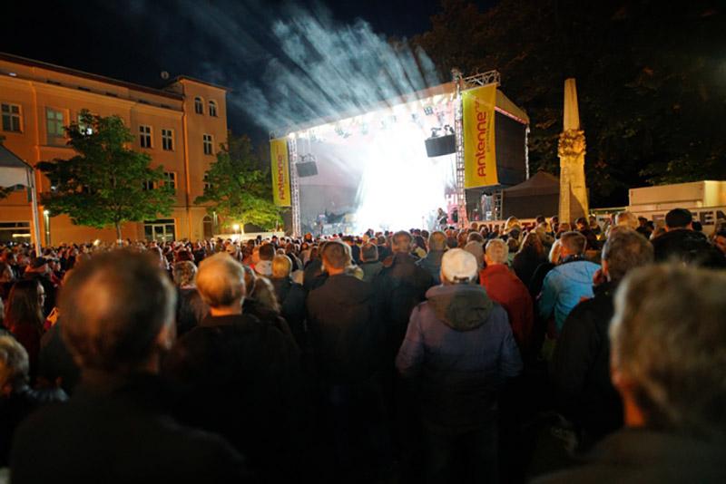 große Antenne Brandenburg Bühne zum 40. Spreewaldfest in Lübben
