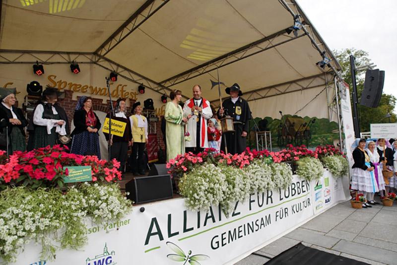 feierliche Eröffnung des Spreewaldfest Lübben