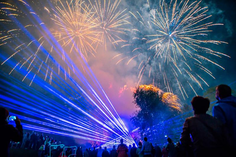 Veranstaltungen in Brandenburg, Feuerwerk zum 40. Spreewaldfest in Lübben