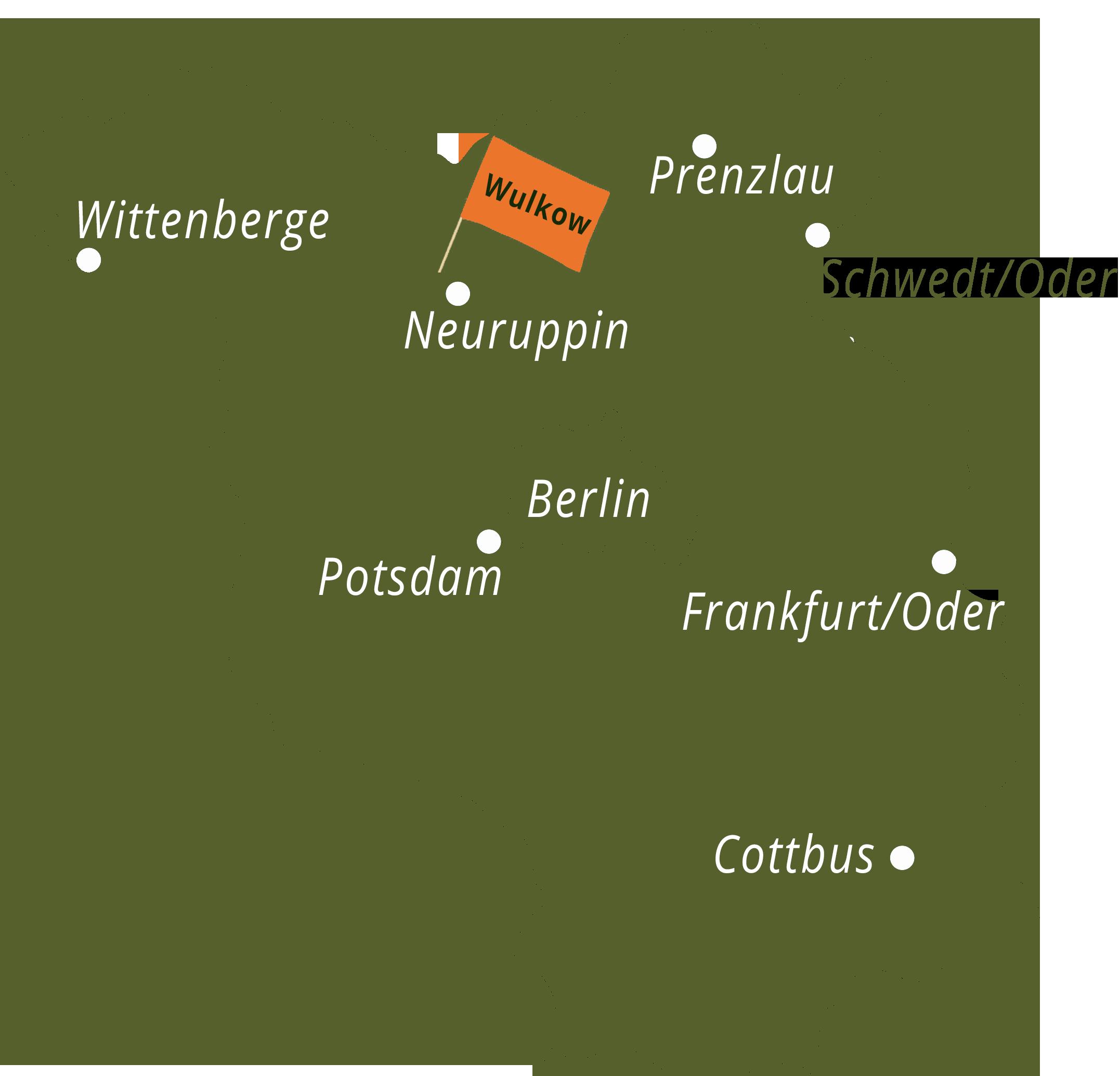 Karte, Standort, 17. Brandenburger Dorf und Erntefest in Wulkow